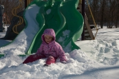 Chelsea's Second Snow-Slide