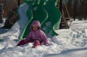 Chelsea's Second Snow-Slide